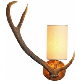 ANTLER replica stag antler left facing wall light