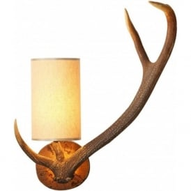 ANTLER replica stag antler right facing wall light