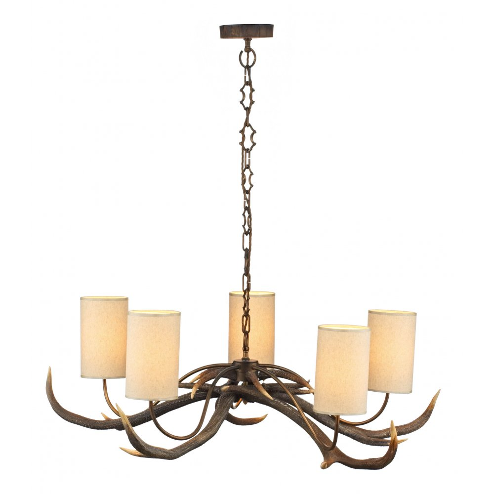 Ceiling Lights Rustic : Rustic chandelier antler ceiling light with naturalistic