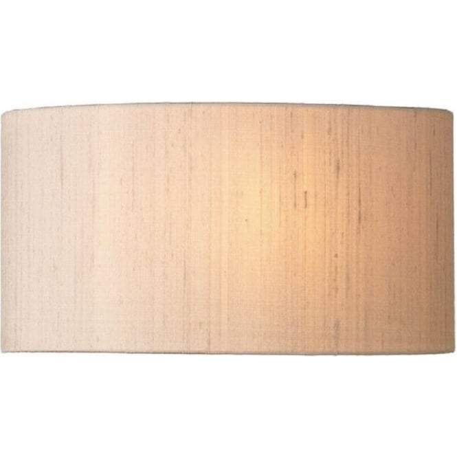 Artisan Lighting ASCOTT taupe silk wall washer style curved wall light