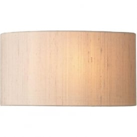 ASCOTT taupe silk wall washer style curved wall light