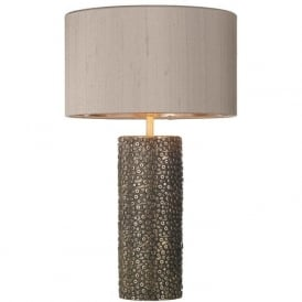 AVIATOR bronze cylinder table lamp with rivet detailing