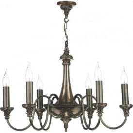 BAILEY bronze 6 light traditional period chandelier