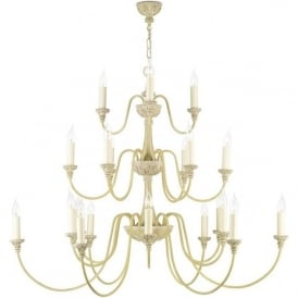 BAILEY large 3 tier antique cream chandelier