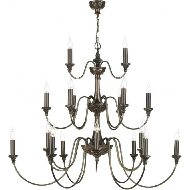Large bronze chandelier for high ceilings 21 lights over 3 tiers bailey large 3 tier georgian or regency chandelier mozeypictures Choice Image