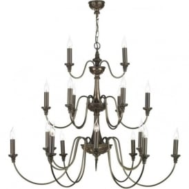 BAILEY large 3 tier Georgian or Regency chandelier
