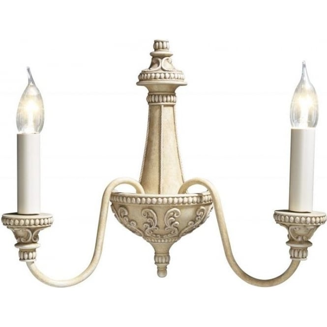 Vintage Wall Lights Double : Cream Wall Lights from Bespoke Lights. Bermuda French Style Wall Light.