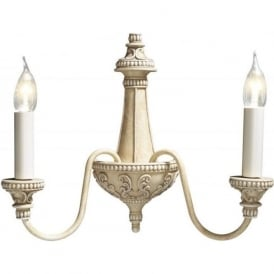 BAILEY traditional antique cream double wall light