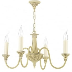 BAILEY traditional Edwardian style antique cream chandelier
