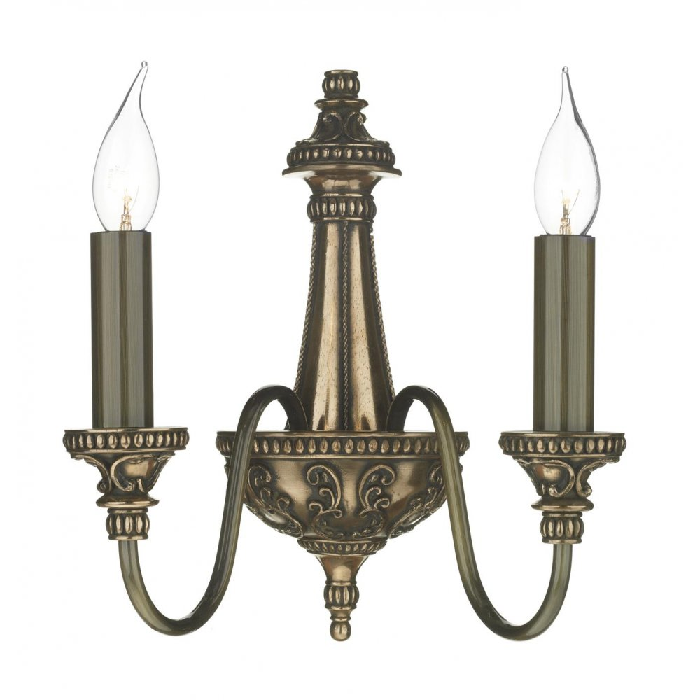 Traditional Bronze Wall Lights : Double Insulated Wall Sconce in Rich Bronze, Regency Period Wall Light