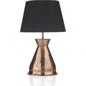 BUCCANEER copper vase table lamp with black silk shade