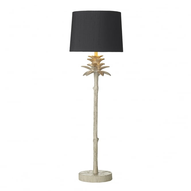 David Hunt Lighting CABANA Edwardian cream/gold pineapple table lamp with French navy silk shade