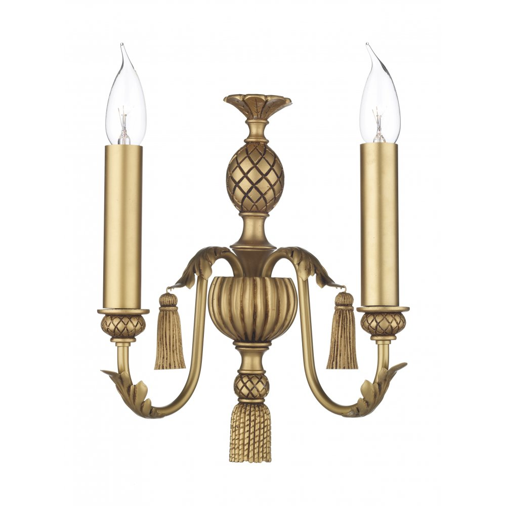 Gold Candle Wall Lights : CLASSIC Antique Gold Wall Light for Period Georgian & Regency Lighting.