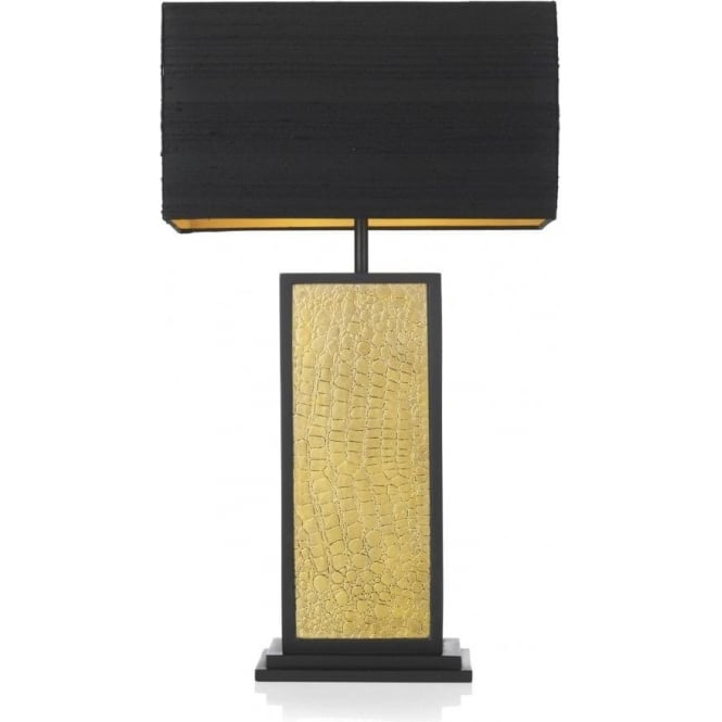 Croc black and gold table lamp with shade