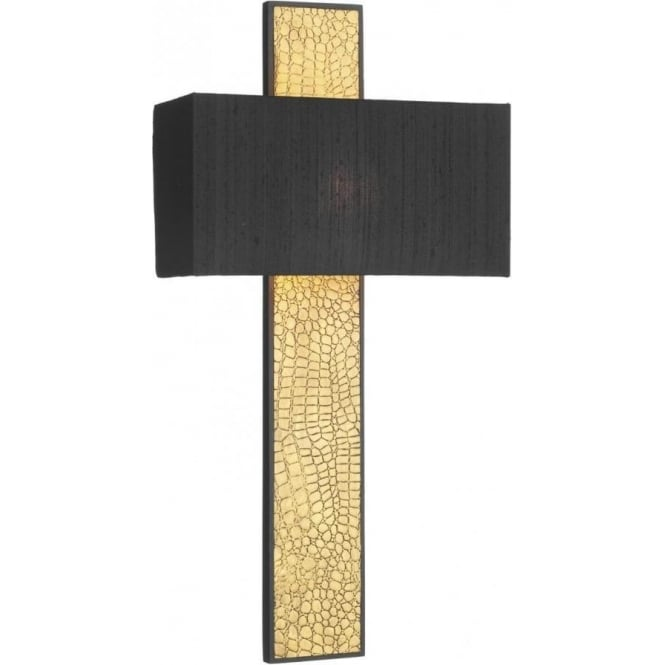 Artisan Lighting CROC gold wall light with black shade