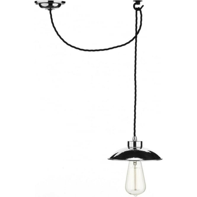 Artisan Lighting DALLAS industrial style hanging ceiling pendant light, chrome