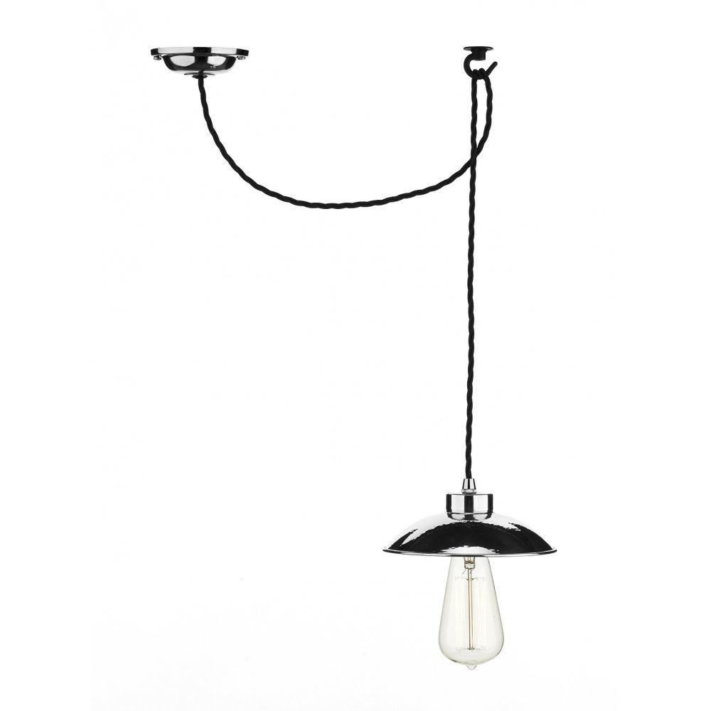 Industrial Style Chrome Ceiling Pendant Light Extra