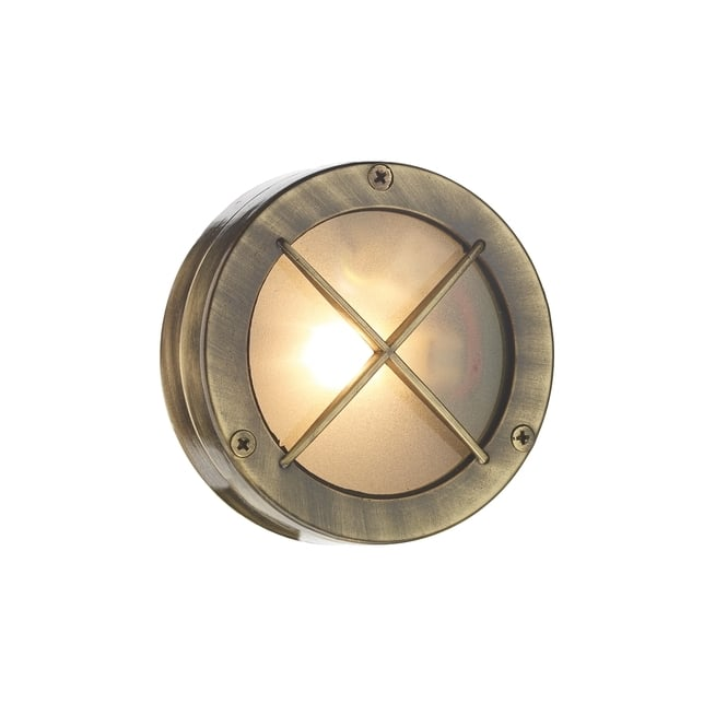 Artisan Lighting DOCK solid brass bulkhead wall or ceiling light for indoor or outdoor use