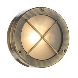 DOCK solid brass bulkhead wall or ceiling light for indoor or outdoor use