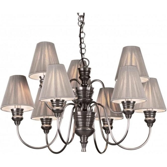 Large pewter ceiling light doreen decorative chandelier silver shades doreen large antique pewter ceiling pendant silver string shades aloadofball Images