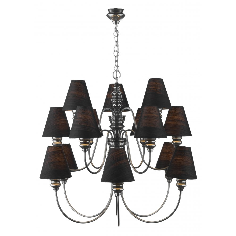 14 In Single Shade White And Silver Hanging Lamp Global: Large Pewter Ceiling Chandelier For High Ceilings, Black