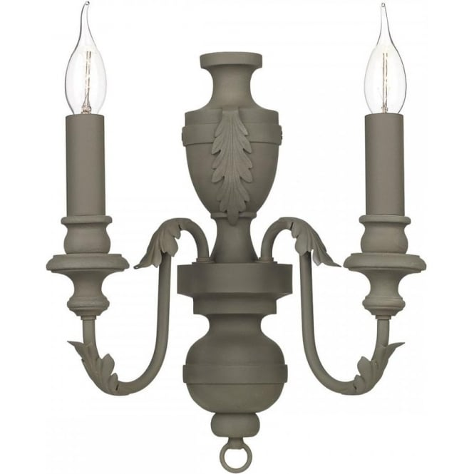 Artisan Lighting EMILE mole brown traditional candle style wall light