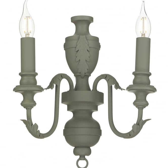 Artisan Lighting EMILE traditional ash grey rustic French style twin wall light