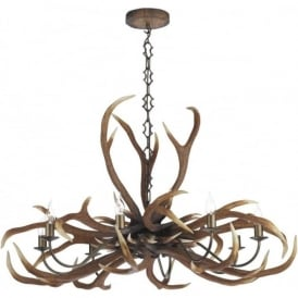 EMPEROR stag antler ceiling light