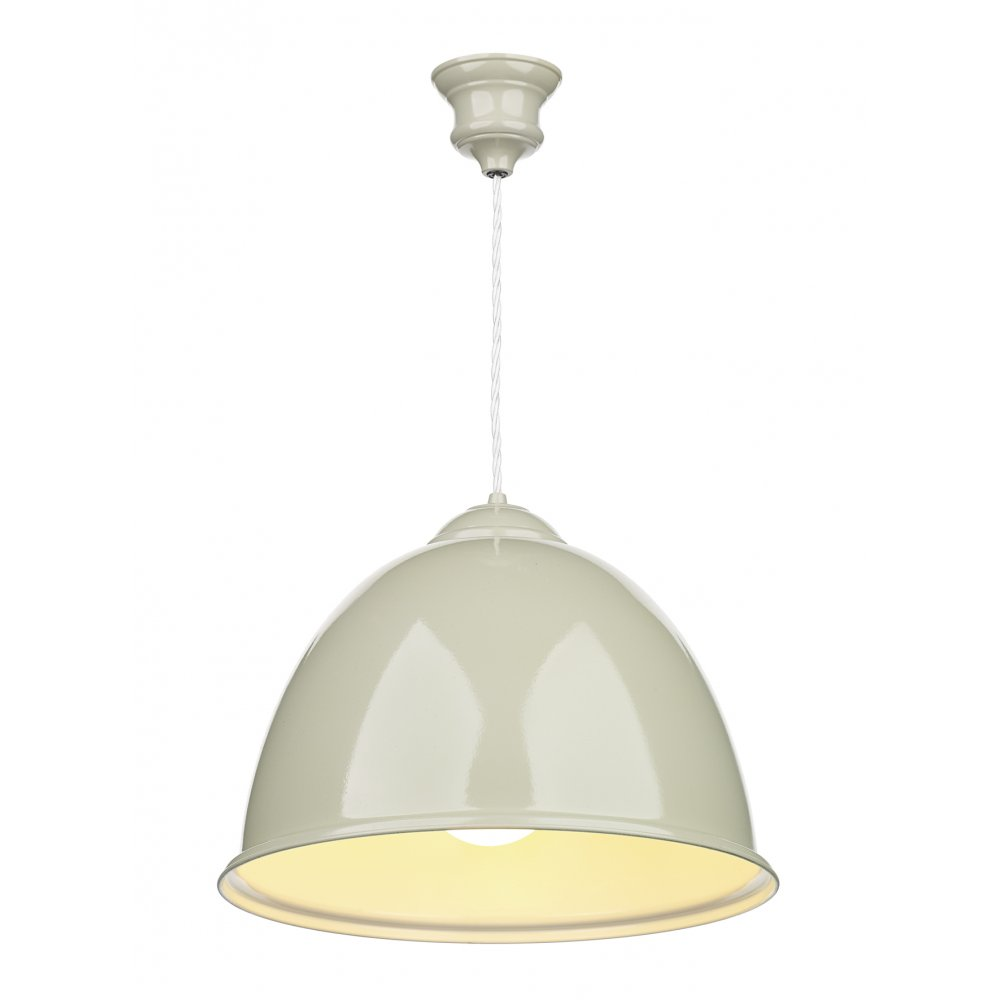 Ceiling Lights Pendant : Double insulated french cream painted metal ceiling