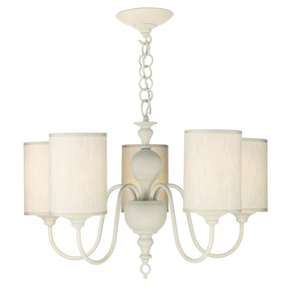 Cream Ceiling Light Flemish Chandelier for High Ceilings Cream Shades