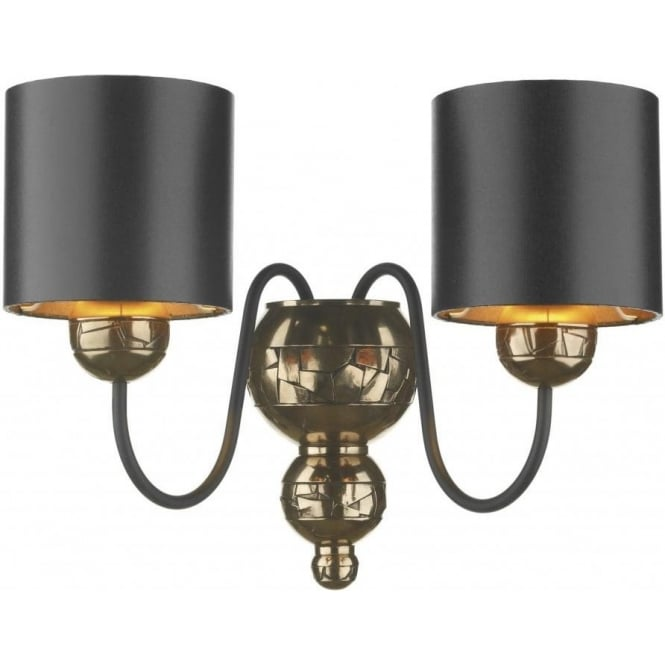 Artisan Lighting GARBO double insulated traditional bronze wall light