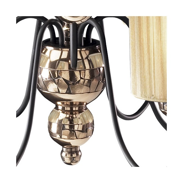 Bronze Ceiling Light GARBO Traditional Large 9 Arm Chandelier Gold Shades