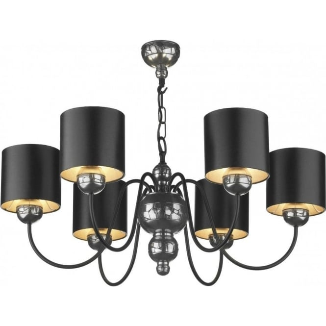 Pewter and black ceiling light garbo chandelier gothic mosaic pewter garbo pewter ceiling pendant light black shades mozeypictures Image collections