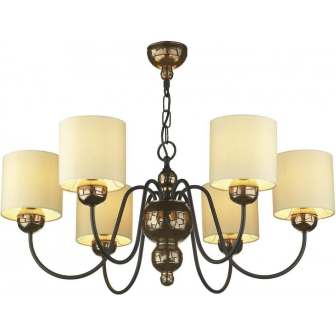 Artisan Lighting GARBO traditional bronze ceiling light with cream shades