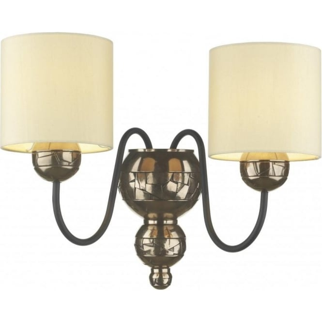 Artisan Lighting GARBO traditional bronze double wall light