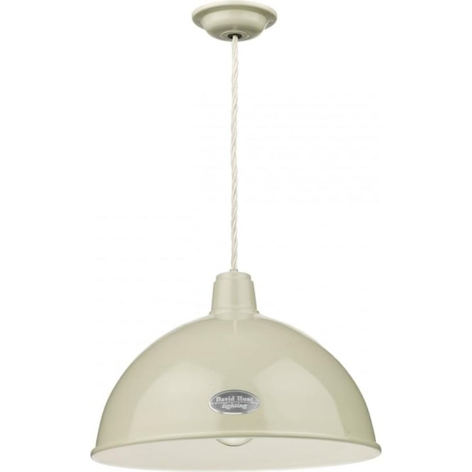 Artisan Lighting GROUCHO retro style metal ceiling pendant light painted in French cream