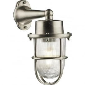 HARBOUR nautical style nickel outdoor wall lantern, IP64