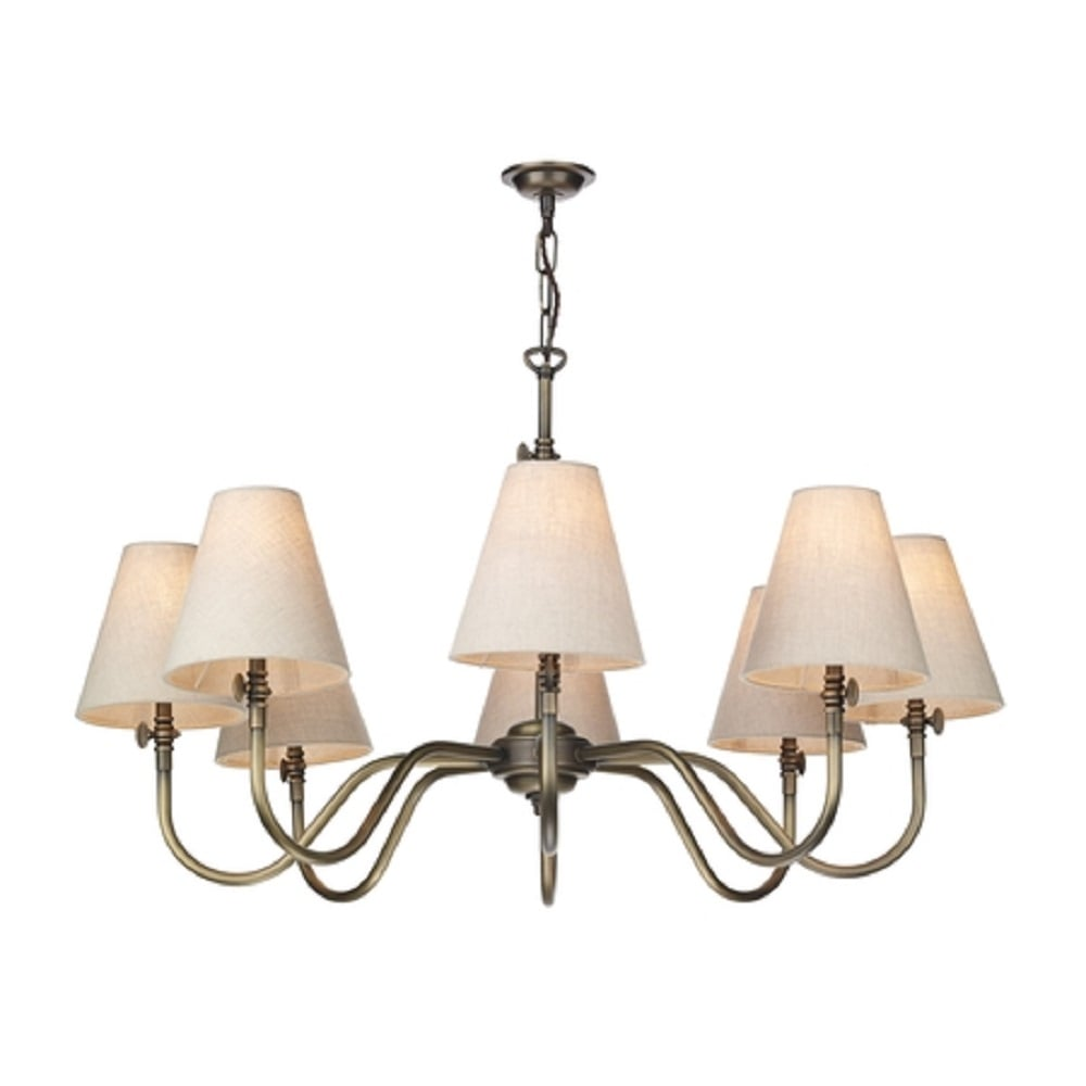 Artisan Lighting HICKS 8 Arm Victorian Ceiling Light In
