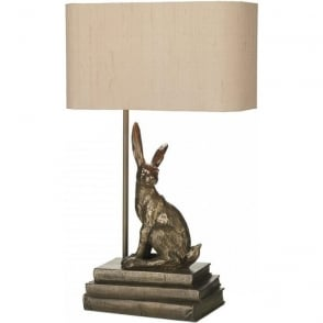 David Hunt Lighting HOPPER bronze hare table lamp with shade