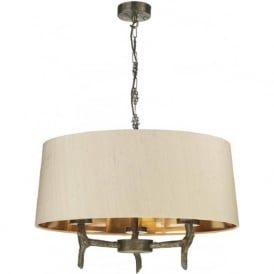JOSHUA bronze driftwood effect ceiling pendant light