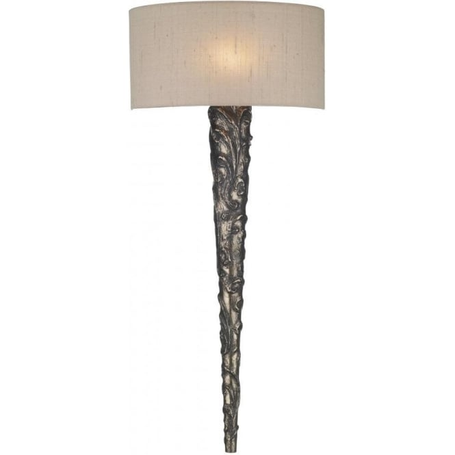 Artisan Lighting KNURL bronze Medieval torch style wall light