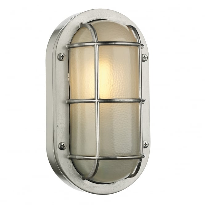 David Hunt Lighting LIGHTHOUSE nautical style bulkhead wall light in nickel finish