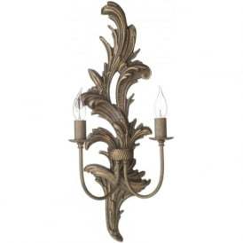 NAPOLEON traditional burnt gold wall sconce