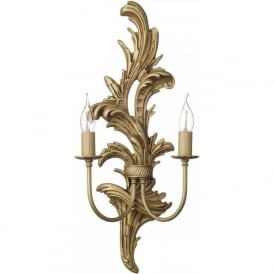 NAPOLEON traditional gold leaf wall sconce