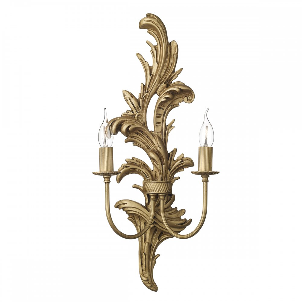Traditional Regency Style Wall Sconce with Decorative Gold Leaf Detail