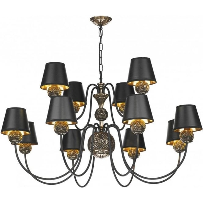 David Hunt Lighting NOVELLA large traditional bronze ceiling pendant light