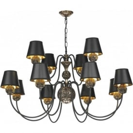 NOVELLA large traditional bronze ceiling pendant light