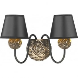 NOVELLA traditional double insulated bronze wall light