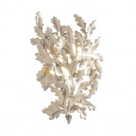 OAK decorative cream oak leaf wall light