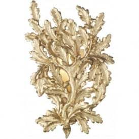 OAK traditional gold oak leaf wall panel light